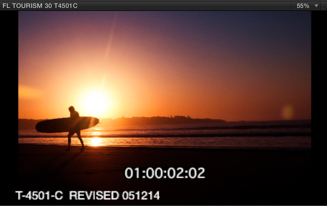 video with timecode burn to sync voice over